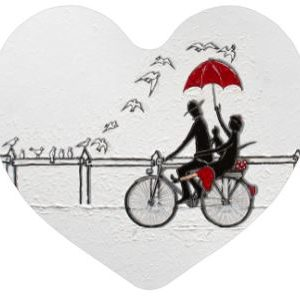 A Bicyclette Magnet coeur