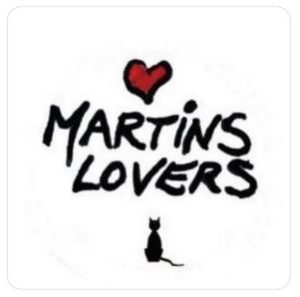I Love Martins Lovers Magnet Carré